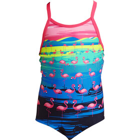 Funkita Printed One Piece Uimapuku Pikkulapset, flamingo flood